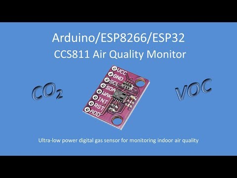Tech Note 103 - CCS811 Air Quality Monitor for Ardunio, ESP8266 or