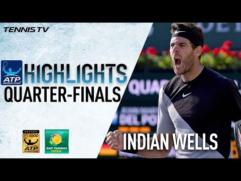 Highlights: Raonic, Del Potro Set Indian Wells SF 2018