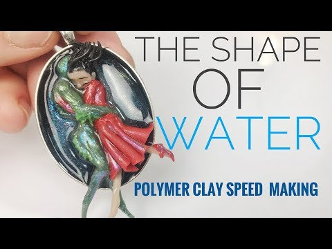 The Shape Of Water - Fan Art - Incredibile ! - Fimo Resin DIY Polymer Clay Tutorial