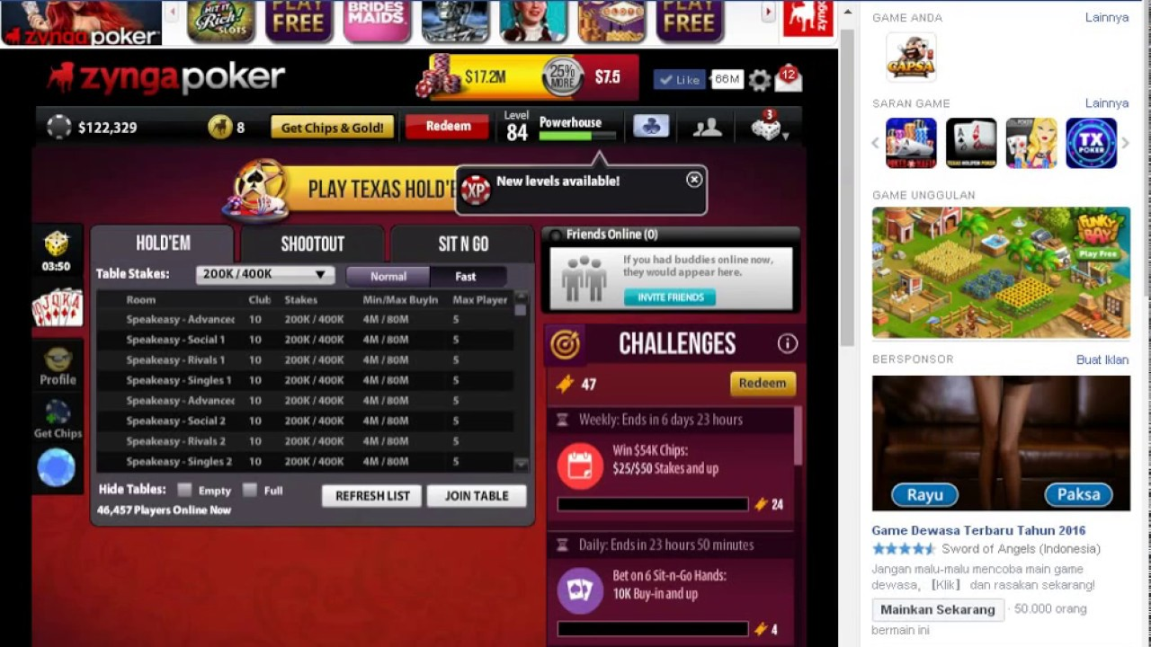 Install Zynga Poker Game