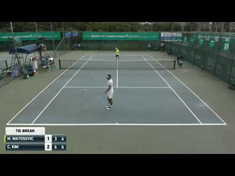 Tennis pro has TWO FOREHANDS and serves (lefty and righty)