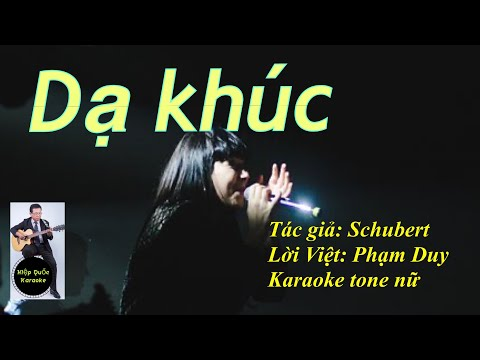Dạ Khúc - Serenade - Karaoke Tone Nữ (Fm) - Quốc Hiệp