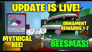 Update! BEESMAS! Mythical Bees! - Bee Swarm Simulator