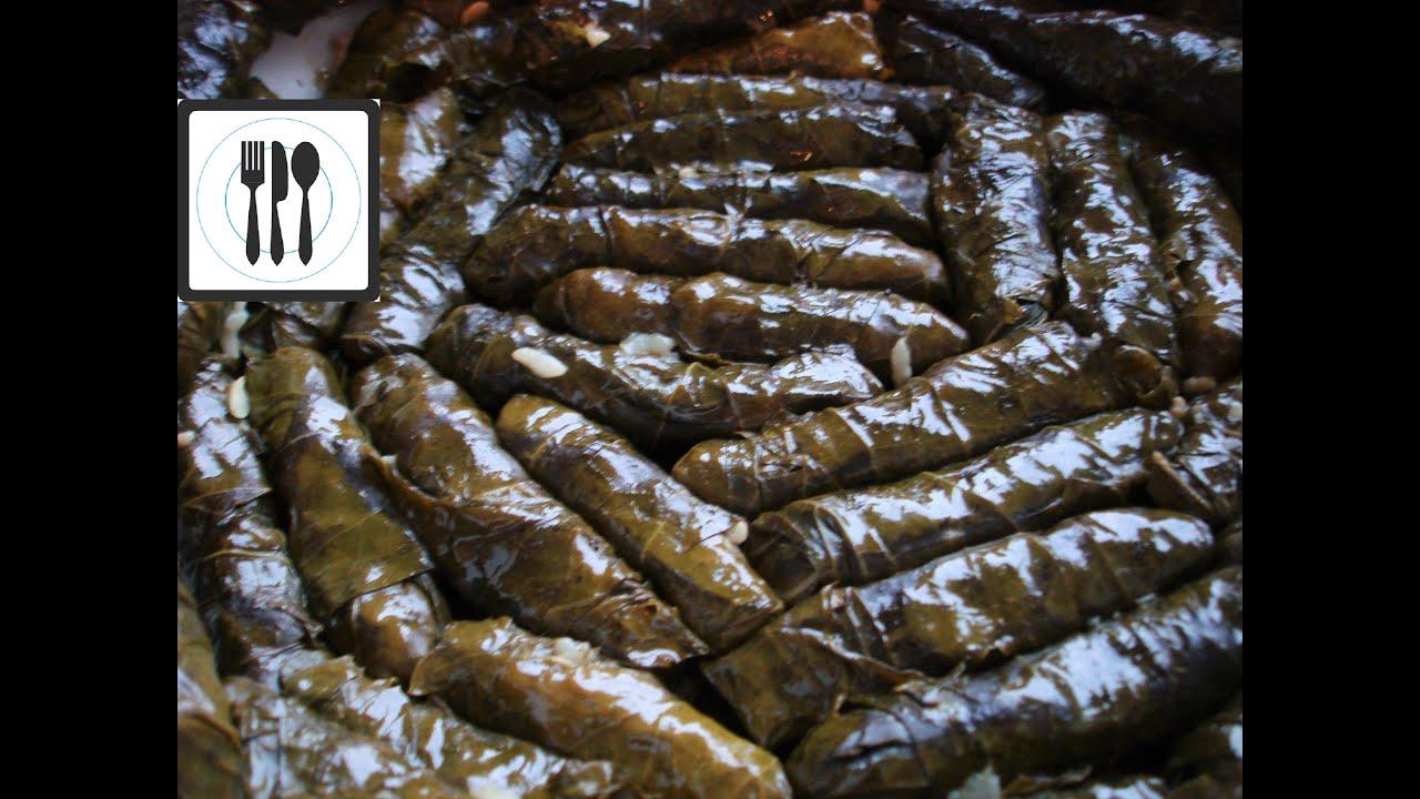 Сарма Долма из виноградных листьев с рисом. Без мяса по ...