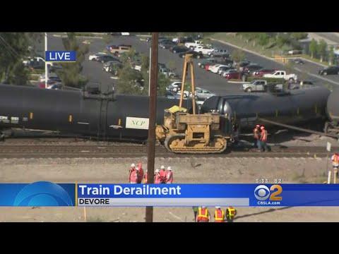 Freight Train Derails In Devore