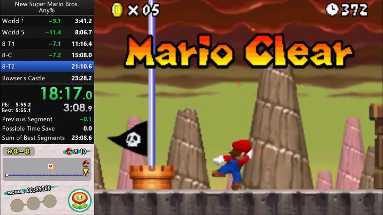 New Super Mario Bros  - Any% - Official Releases in 23m 16s* by