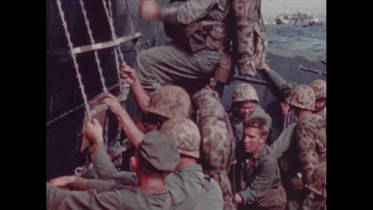 5th marine division landing on iwo jima february 1945 part 1
