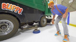 Blippi Learns about the Zamboni and Hockey | Educational Videos for Toddlers
