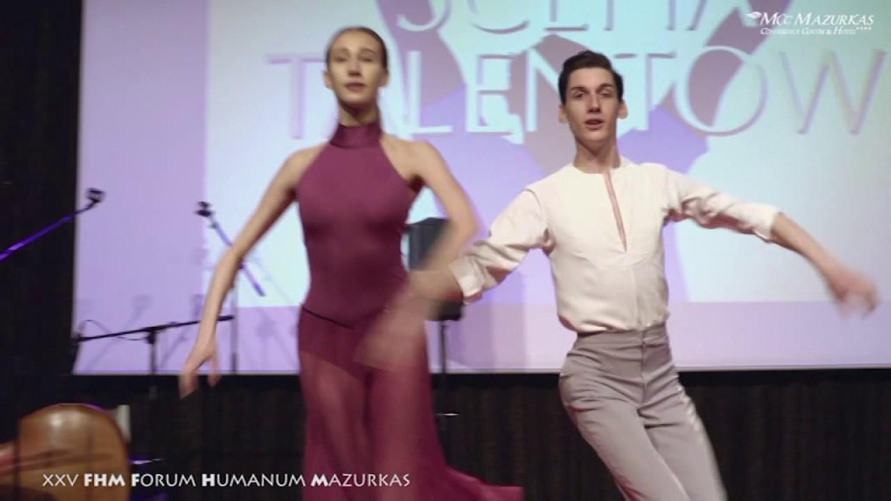 XXV FHMazurkas-Scena Talentów-Irena Bartkowska prezentuje duet taneczny-Oliwia Górecka i Adam Huczka