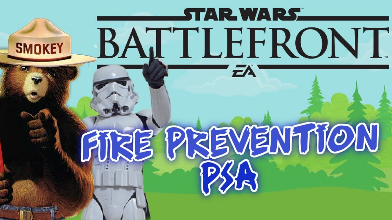 Fire Safety Public Service Announcement in Star Wars Battlefront ...