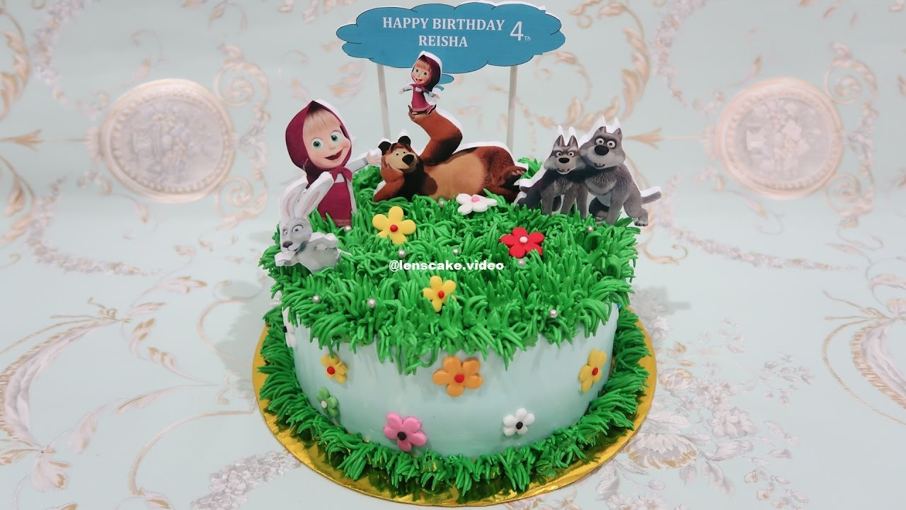 How to Decorate Birthday Cake Masha and The Bear Cara Menghias