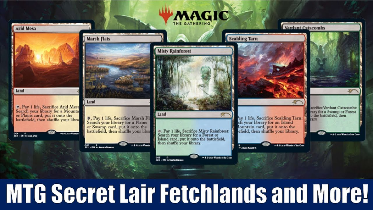 Fetch Lands mtg previews: secret lairs fetchlands and more on signature spellbook  chandra