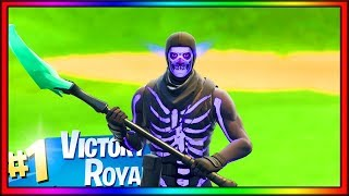 Nouveau Purple Glow Skull Trooper Skin!! - Gameplay DeNite Battle Royale