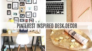 Desk Tour - Stationery & Decor Organisation - Pinterest Inspired   Frankie Amelia
