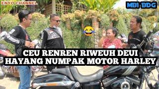 CEU RENREN LATAH NGIDAM NAIK MOTOR HARLEY ( MBI )