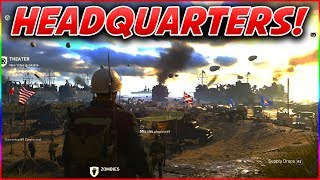 COD WW2 HEADQUARTERS MULTIPLAYER ULTIMATE GUIDE! - ARMORY CREDITS, SOCIAL RANK, FREE STUFF + MORE!