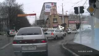Авария Армавир 16.02.2013