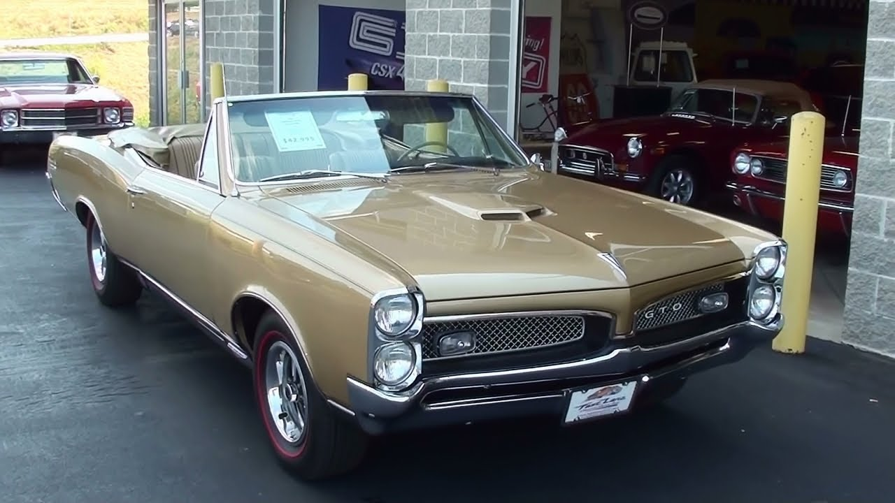 1967 Pontiac Gto Convertible 428 Four Barrel Muscle Car Start Up And Walkaround You