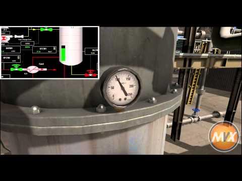 Gas Processing Simulation Visualisation Demo