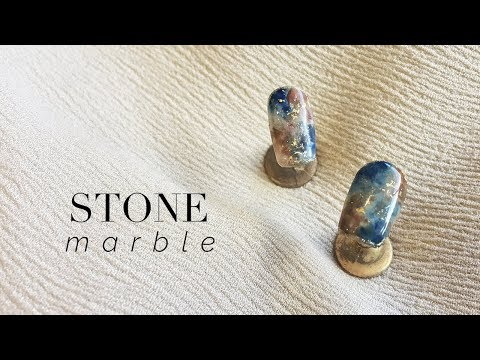 Easy Stone Marble Nail Art | GEL POLISH