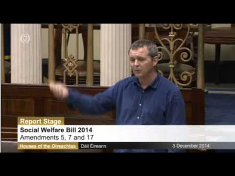 Richard Boyd Barrett TD Speaking in the Dail on amendments to the Social Welfare Bill (2014)
