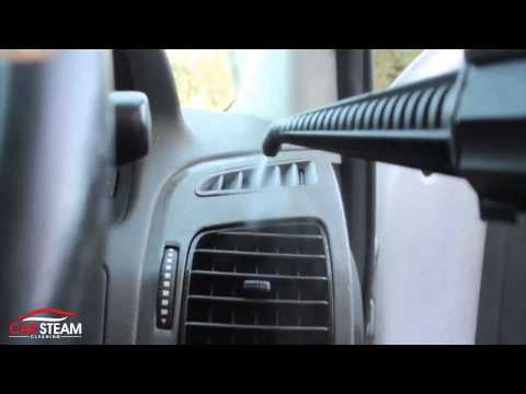 Car Interior Cleaning with Steam Vapour