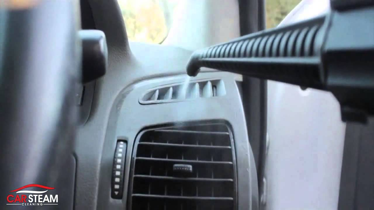 car interior cleaning with steam vapour youtube. Black Bedroom Furniture Sets. Home Design Ideas