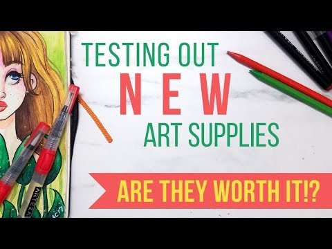 IS IT WORTH IT? TESTING OUT NEW ARTEZA ART SUPPLIES | GIVEAWAY, Review & TWO Speed Paints!