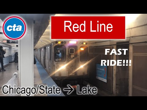 Let's Ride the Rail - CTA Red Line from Chicago/State to Lak