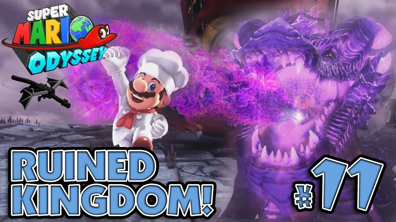 Bowser S Pet Dragon Boss Battle In The Ruined Kingdom Super