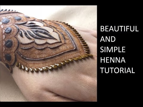 Best Henna Tattoo Design Tutorial For Bride  Latest Simple and easy Mehendi   حناء