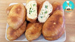 Пирожки с луком и яйцом (жареные на сковороде) + рецепт начинки для пирожков с яйцом и зелёным луком