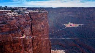 BASE Jumping and Slacklining on the World's Biggest Hammock