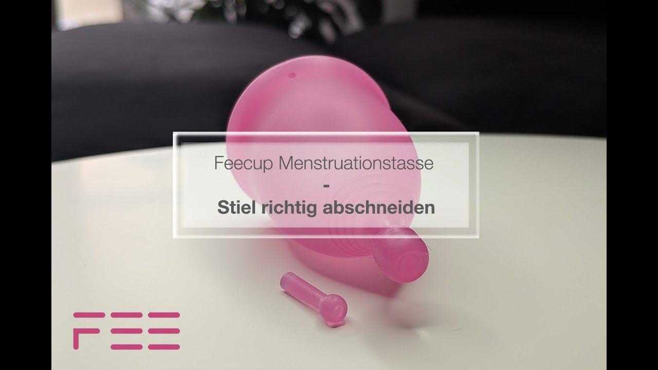 Feecup Menstruationstasse - Stiel kürzen - YouTube