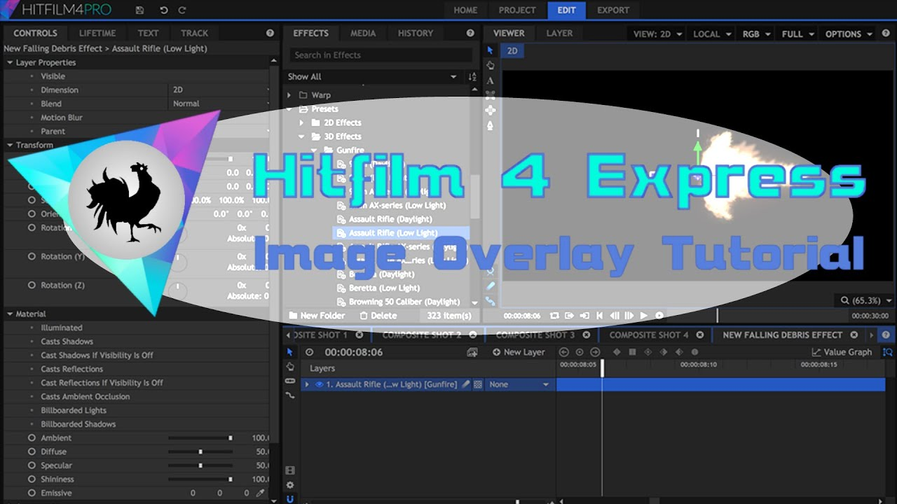 how to use hitfilm 4 express