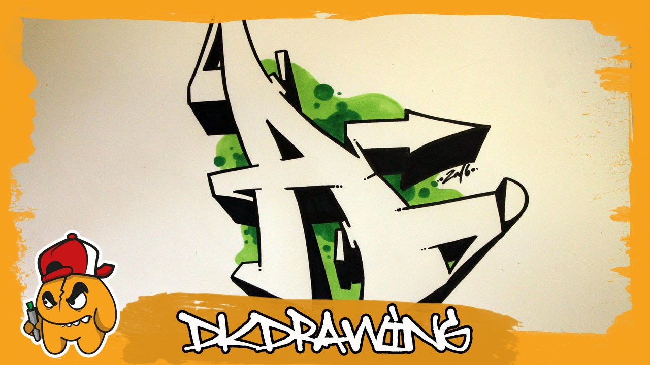 Graffiti Alphabet Tutorial How To Draw Graffiti Letters Letter A