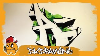 Graffiti Alphabet Tutorial - How to draw graffiti letters - Letter A