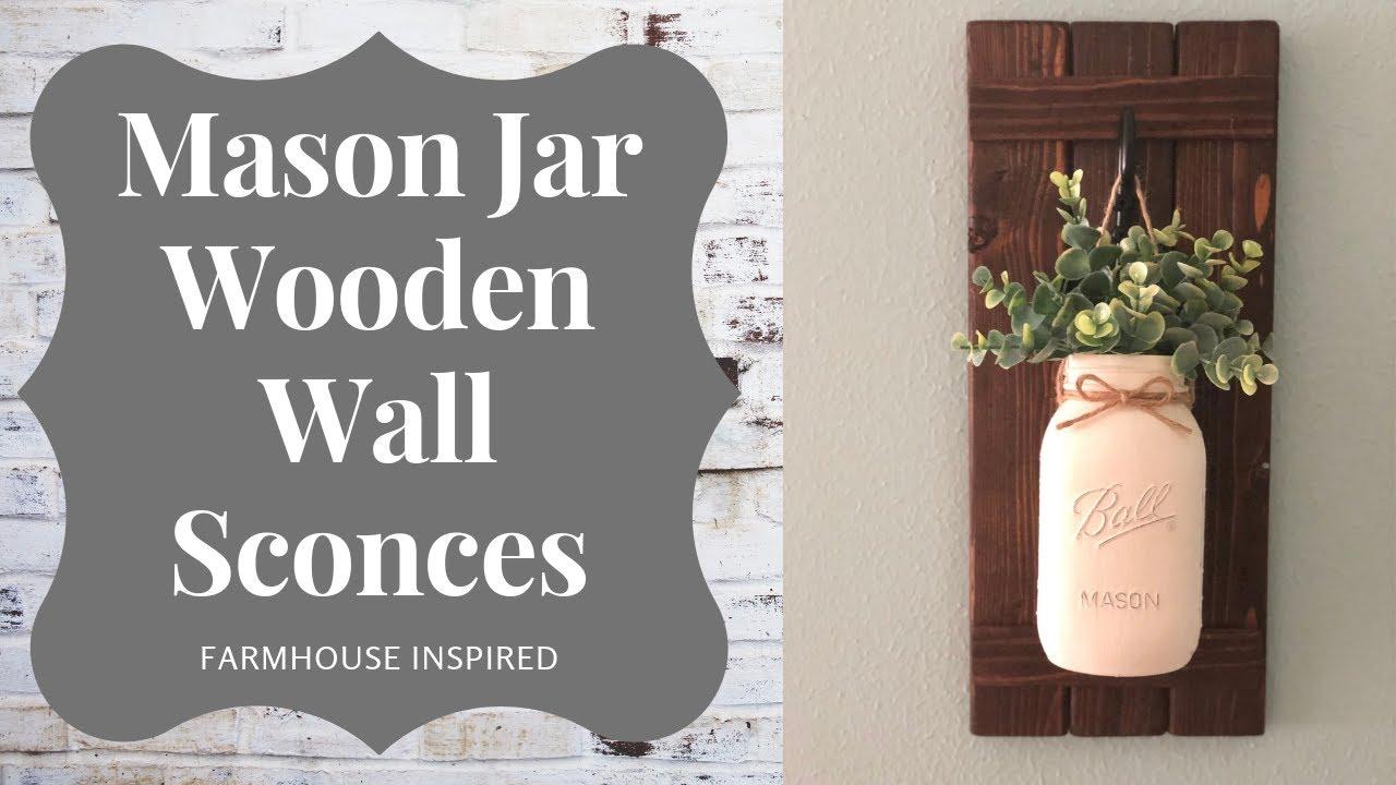 Spring Farmhouse Mason Jar Wall Hanging Spring Diy Youtube