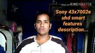 Sony 2017 new..uhd smart led..43x7002e...features description..compare with..samsung 40mu6100...