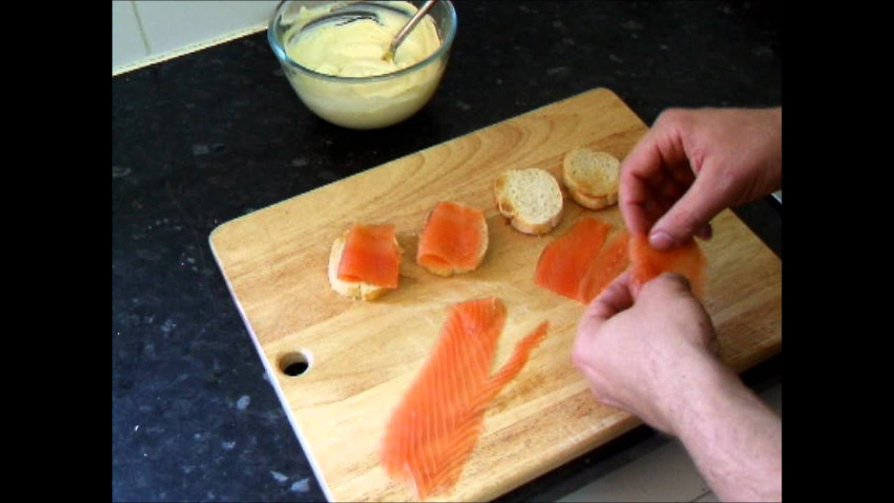 Smoked Salmon & Horseradish Crostini Canapes Cicchetti Recipe How To Make  Appetizer Hor D'oeuvres  Youtube