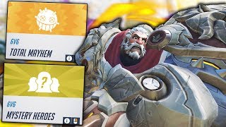 TOTAL MAYHEM + MYSTERY HEROES!? | Overwatch Custom Game