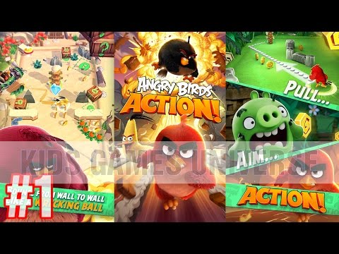 Angry Birds Action - New game by Rovio - Let's play #1 | Kids games Universe