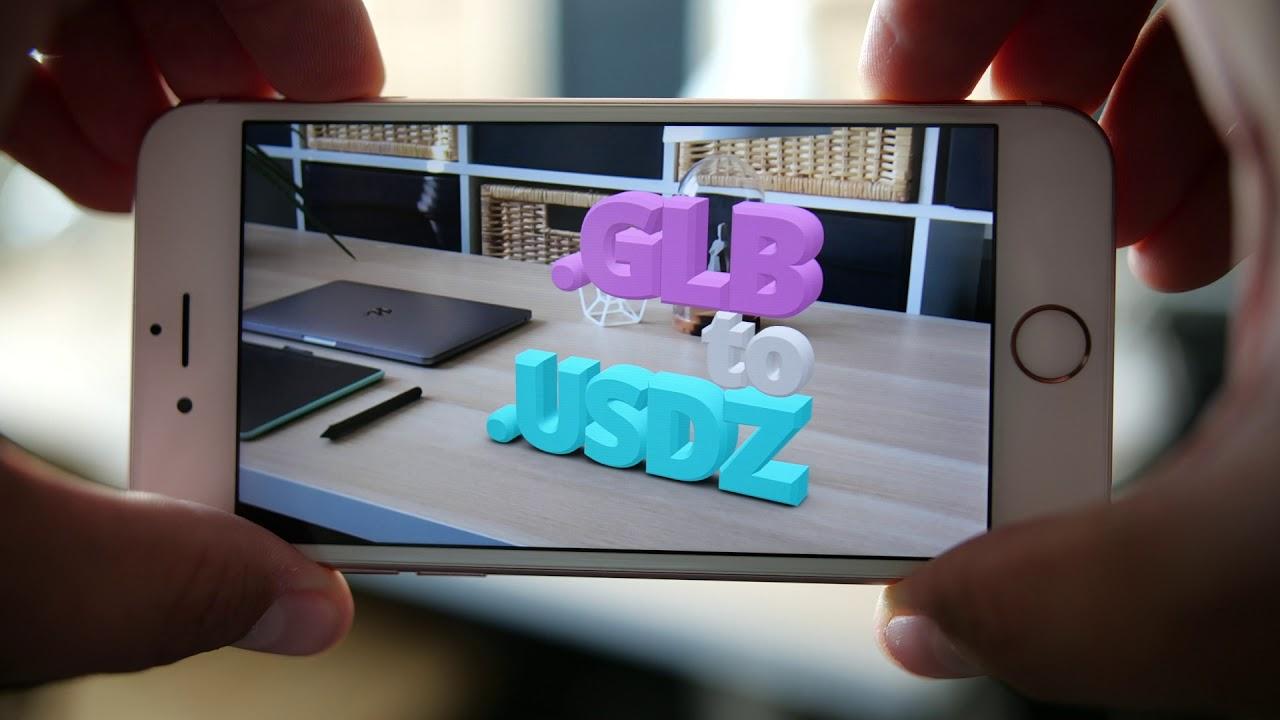 How to convert GLB to USDZ | Vectary online USDZ converter