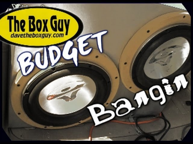 Getting Louder w/ LESS Power - DaveTheBoxGuy's Custom Ported Subwoofer Box  & 2 Cerwin Vega VMAX Subs
