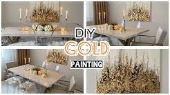 TUTORIAL I DIY Bild mit Blattgold Acrylfarbe, Low Budget #diy #easyinterieur #art #painting