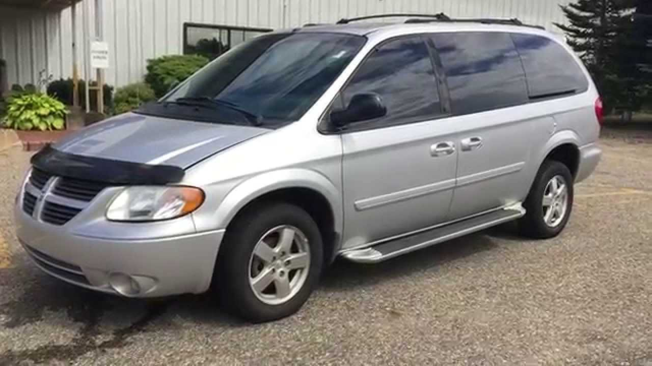 2005 dodge grand caravan sxt auto rear entry wheelchair accessible ramp w power transfer seat