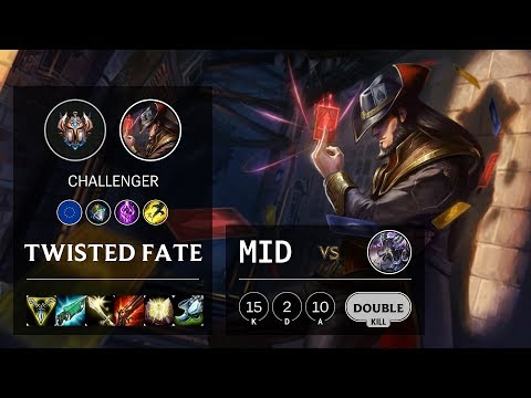 Twisted Fate Mid vs Kassadin - EUW Challenger Patch 10.10