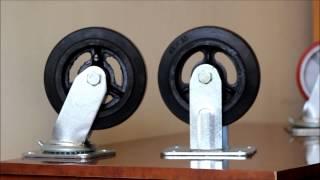 видео Поворотные колеса для тележек