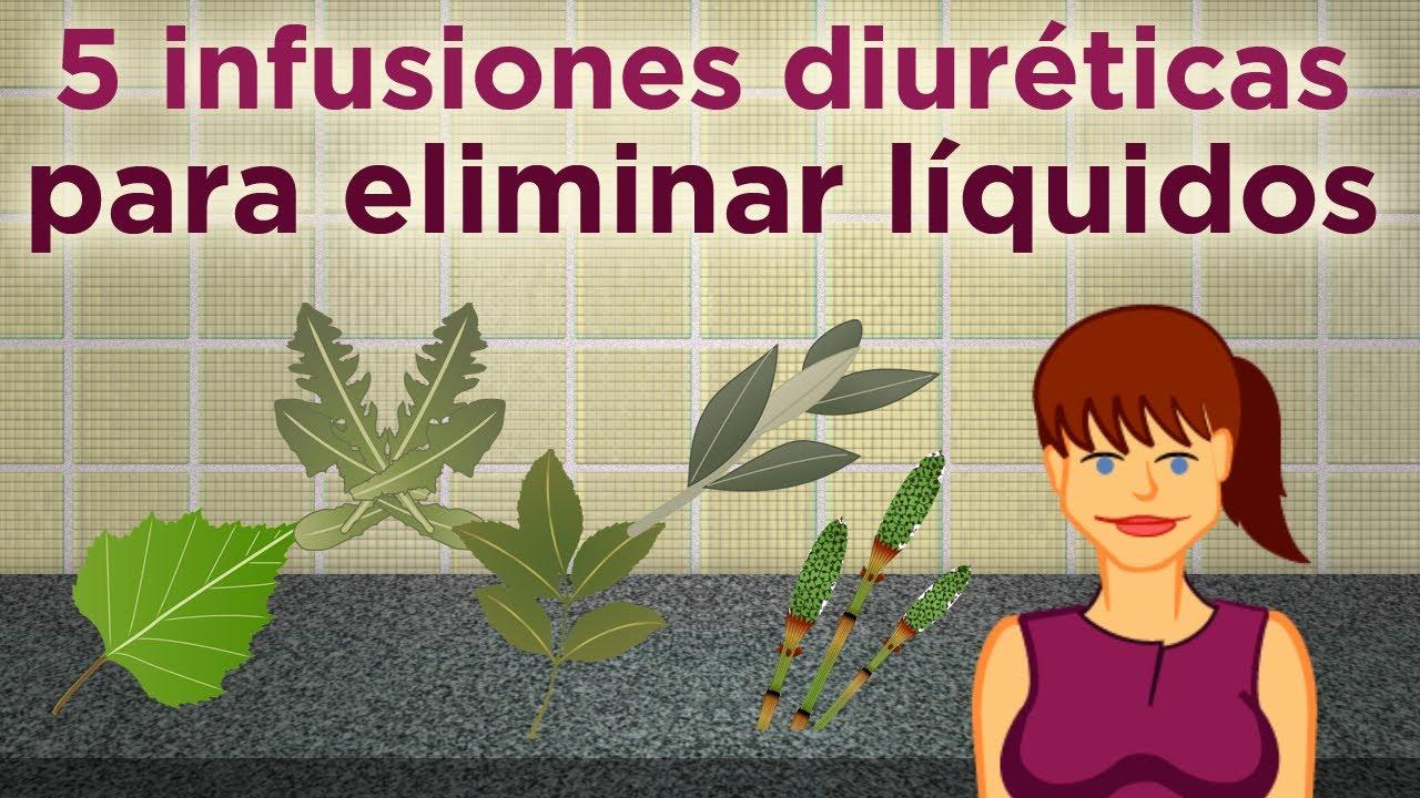 hierbas para quitar la retención de líquidos
