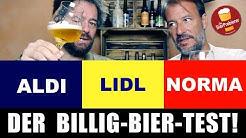 ALDI, LIDL, NORMA - Wer hat das beste Bier? Der große Test!